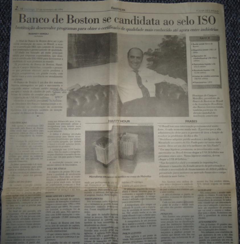 Folha de São Paulo 27 de Novembro de 1994
